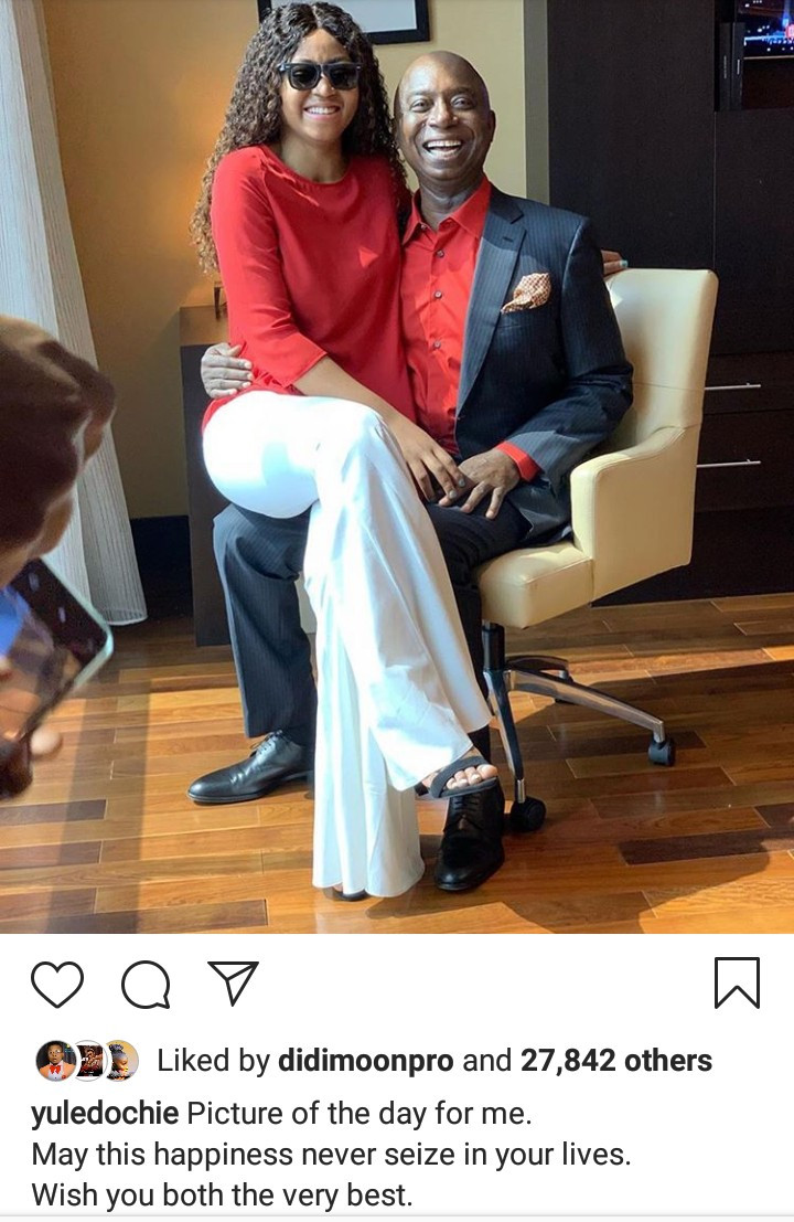Yul Edochie receives curses from IG users after he shared photo of Regina Daniels and husband and blessed their marriage