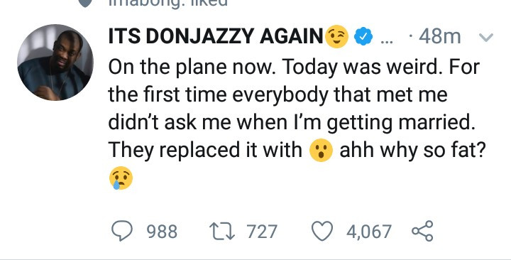 """Don Jazzy shares the """"weird"""" experience he had after revealing no one can force him to get married"""