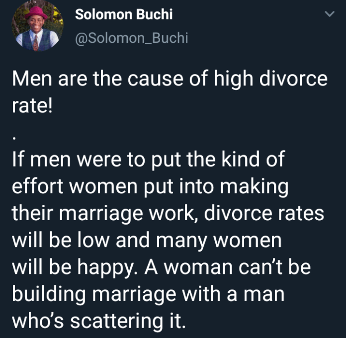 Nigerian Life Coach Says Men Are The Cause Of High Divorce Rate