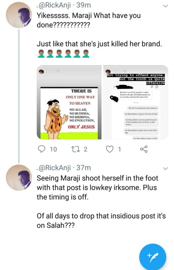 Maraji receives backlash for disrespecting other religions by saying Jesus is the only way to heaven