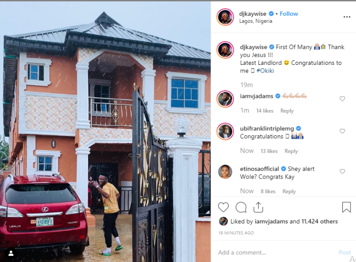 DJ Kaywise becomes a landlord, shows off his new house