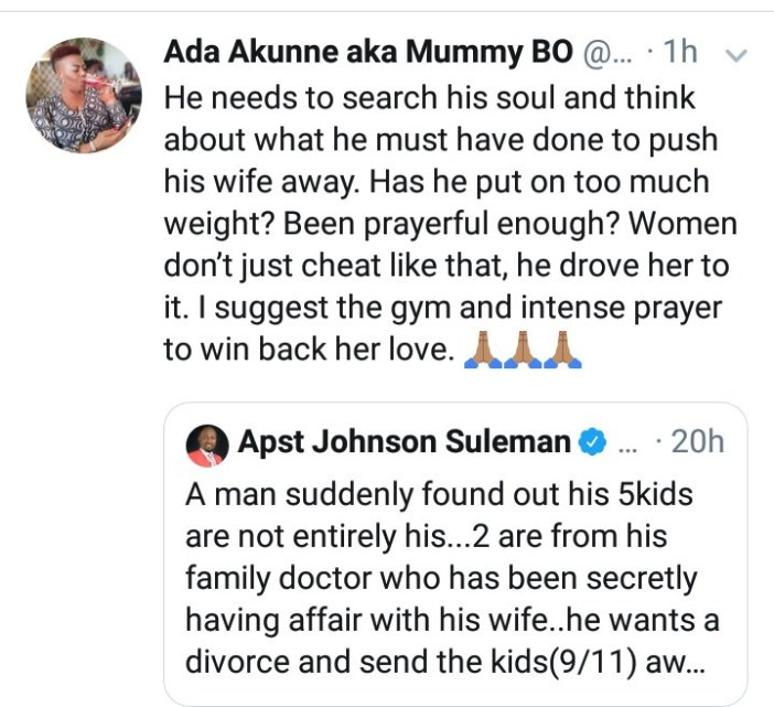 """A man suddenly found out 2 of his kids are from his family doctor"" Apostle Suleman reveals"
