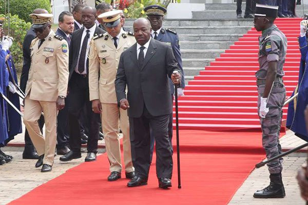 President of Gabon, Ali Bongo makes his first public appearance 10 months after suffering a stroke