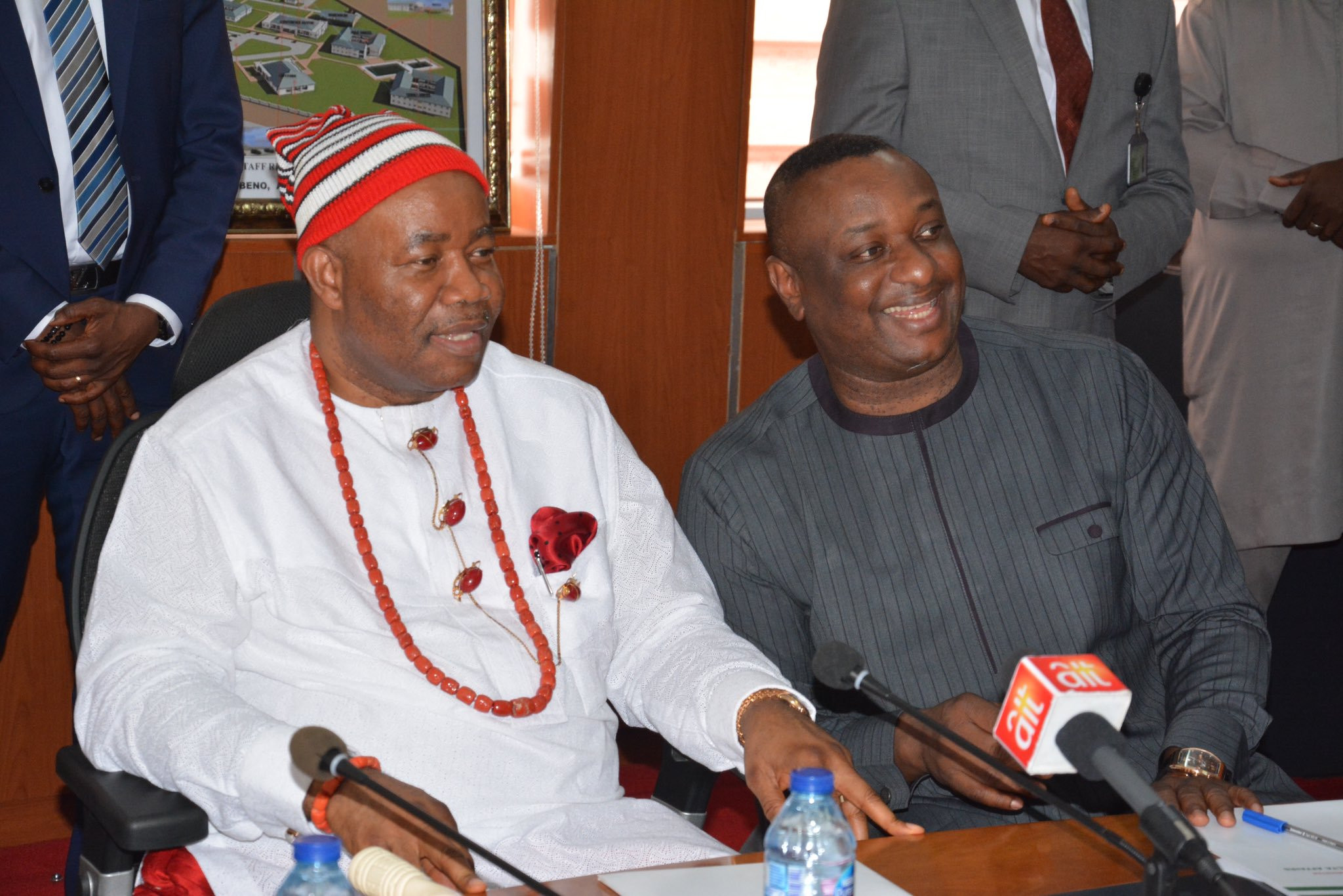 Photos: Akpabio, Keyamo resume at the Ministry of Niger Delta Affairs shortly after their inauguration