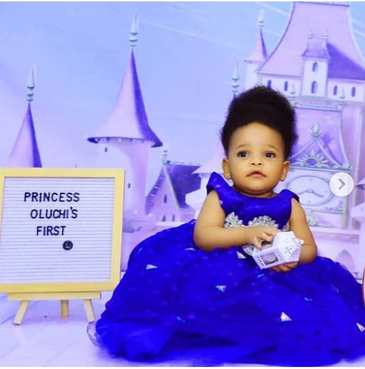 Queen Nwokoye shares adorable photos of her daughter as she turns 1