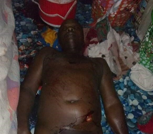 Graphic photo of one of the men killed by unknown gunmen in Imo community
