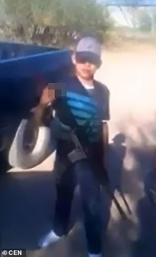 16-year-old Mexican hitman Commander Little has his head blown off in bloody gun battle with police officers?(Photos)
