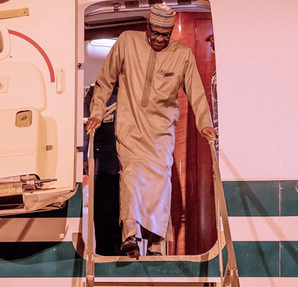 President Buhari arrives Abuja after participating in TICAD7 (photos)