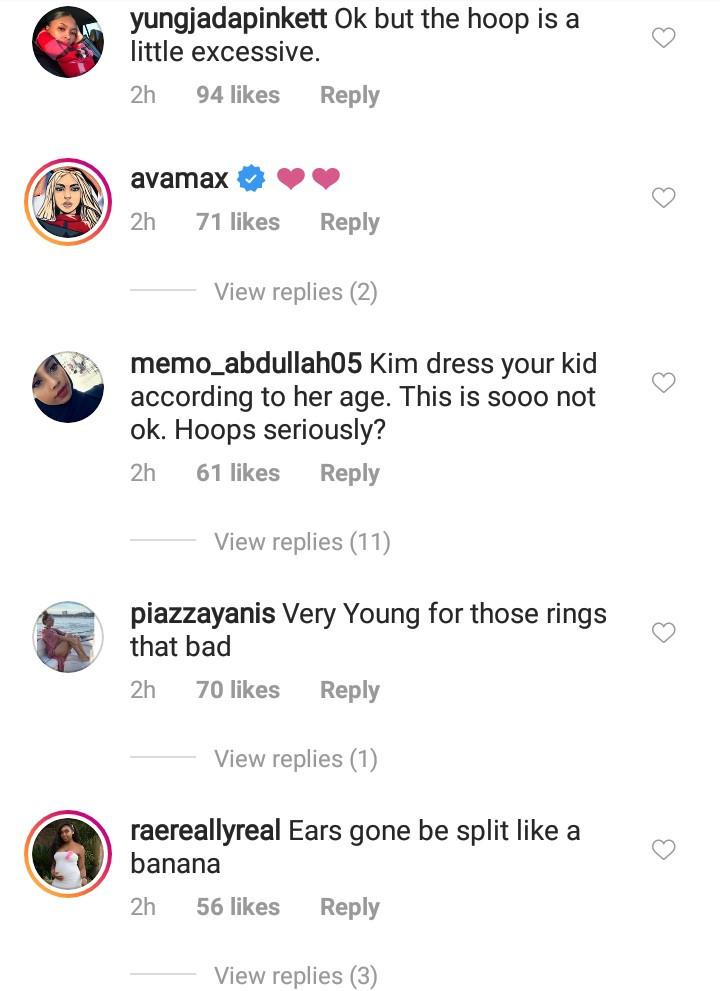 Instagram users slam Kim Kardashian for letting daughter North West wear hoops
