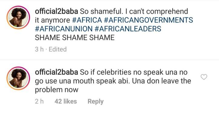 2Face Idibia comes for Nigerians attacking celebrities for not speaking against recent xenophobic attacks in South Africa