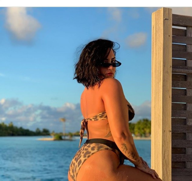 """""""Tired of being ashamed of my body"""" Demi Lovato says as she shares unedited bikini photo with her cellulite on dis."""