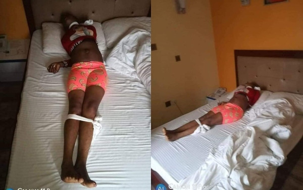 Another lady killed in Port Harcourt with white handkerchief tied on her neck (photos)