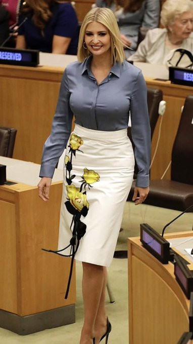 Ivanka Trump flashes her nipples at UNGA, grabs world-wide attention (photos)