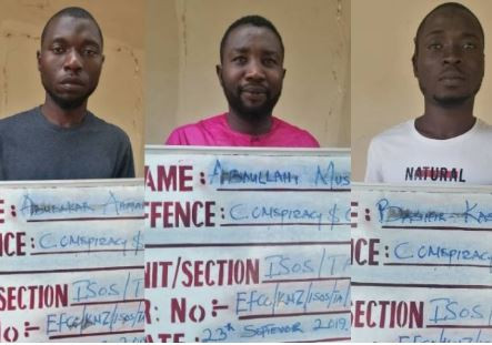 Hilarious Twitter reactions after EFCC arrests six 'Hausa' Yahoo-Yahoo boys