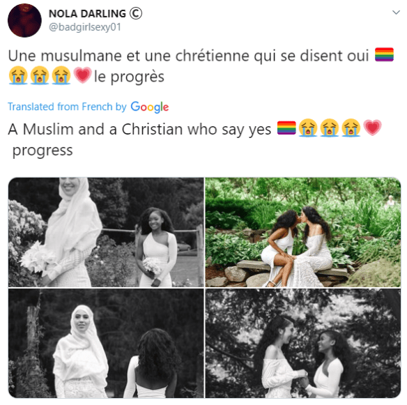 Outrage as Muslim and Christian Lesbian Couple Wed (Photos)