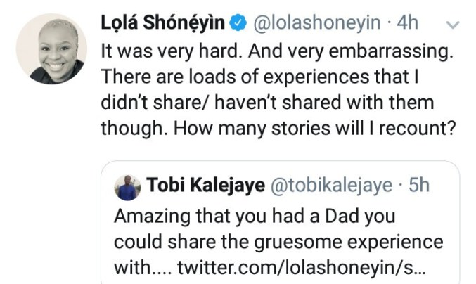 Writer Lola Shoneyin narrates how a Deputy Vice Chancellor who is her father