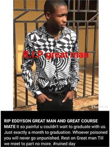 AAU final year student allegedly poisoned to death two weeks before graduation