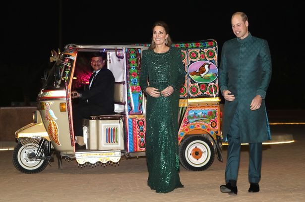 Kate Middleton dazzles in �3500 dress as she joins Prince William on Pakistan visit