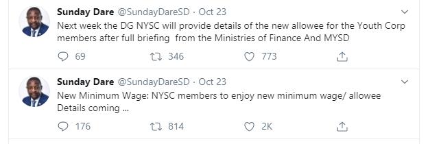NYSC members to enjoy new minimum wage