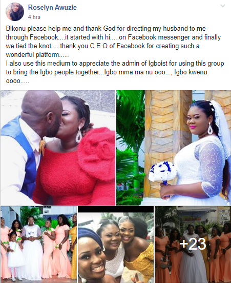 """""""It started with hi on Facebook""""-  Bride thanks God for directing her husband to her through Facebook"""