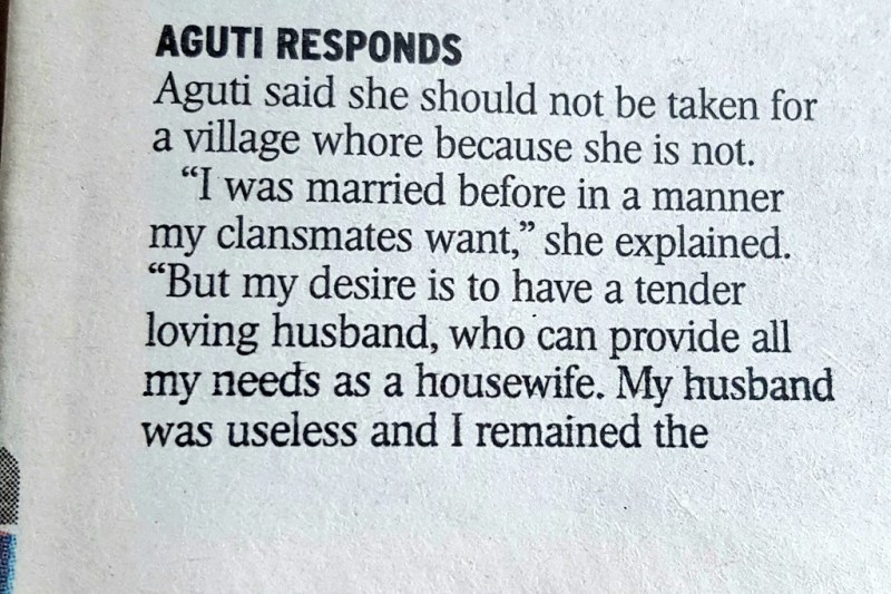 A woman who married 3 husbands trends on Twitter as she makes front page of a newspaper