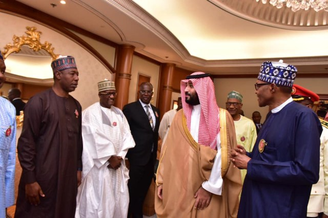 Photos:?President Buhari meets with Saudi Crown Prince,?Mohammed bin Salman