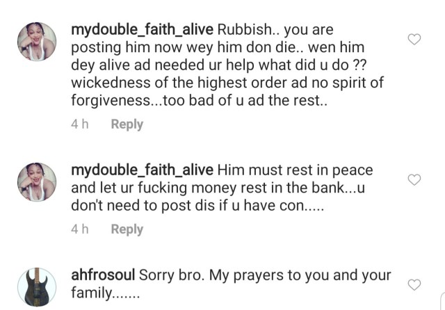 Fans drag Oritsefemi for mourning his late ex-band member, Chi Jungulist, who he allegedly abandoned when he was sick
