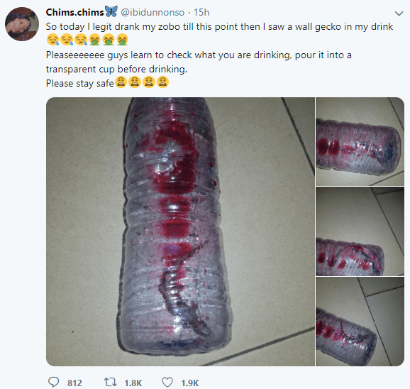 Ewww! Woman reveals the shocking thing she found in her zobo drink after drinking it