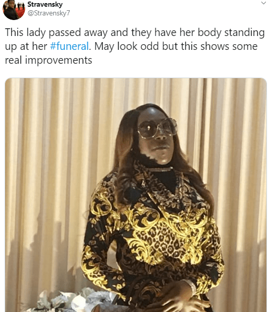 Family makes corpse of woman to stand at her own funeral
