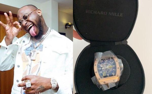 Davido buys a £119K (N55m) Richard Mille watch