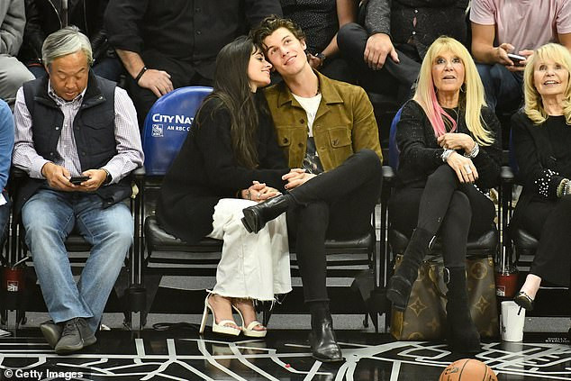 Camila Cabello and Shawn Mendes pictured making out during basketball game (Photos)