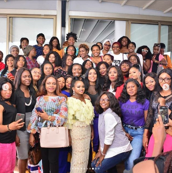 Female entrepreneurs meet with Linda Ikeji in Abuja for a chat session organized by Boss Babes (photos/video)