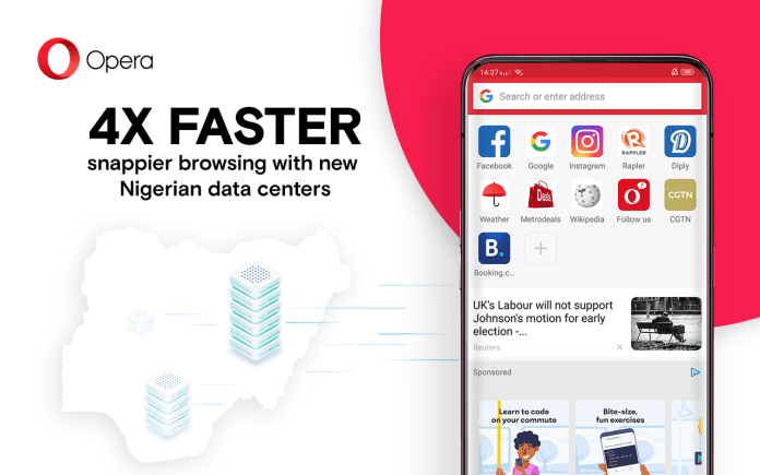 Opera makes browsing four times faster in Nigeria with the installation of new local servers in Lagos