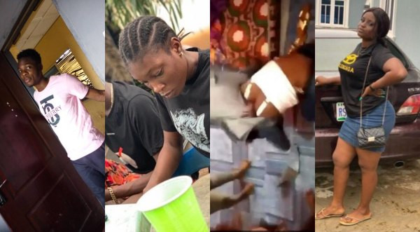 FUTA students who ganged up to beat a 100 level female student have been identified and arrested, see their photos (movies)
