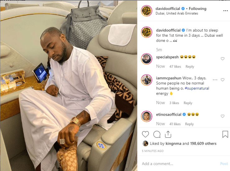He is on his way to London to support Mayorkun - Soso Soberekon debunks claims of Davido being arrested in Dubai