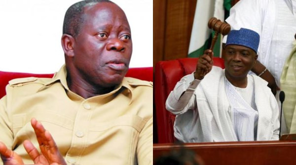 Saraki and other senators who decamped to the PDP have been punished by Nigerians for being disloyal - Oshiomhole