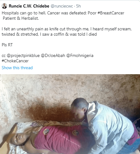 Mother who went to a herbalist to help cure her cancer shares shocking story to warn other cancer patients and it