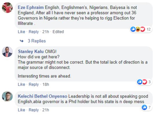 Bayelsa Gov. Elect speaking Bad English while addressing the media (video)