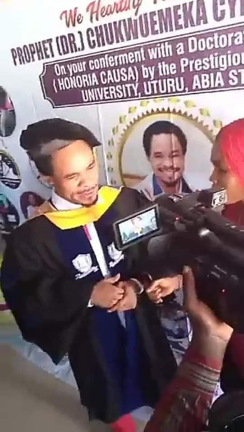 Nigerians react as Prophet Chukwuemeka Odumeje is conferred with an honorary doctoral degree from the Gregory University Uturu