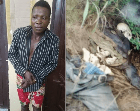 Photos: Police arrests suspect who allegedly killed keke Napep rider, buried him in a shallow grave and stole his tricycle