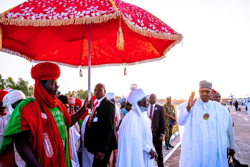 President Buhari arrives his hometown,?Daura on a?4-day official visit (Photos)