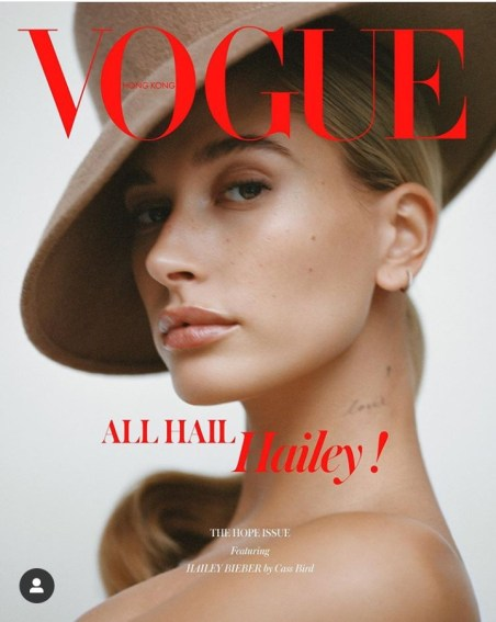 Image result for Hailey Baldwin Bieber vogue hongkong shoot