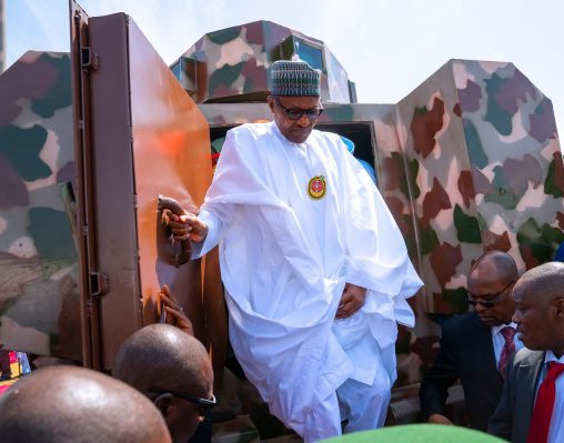 President Buhari unveils locally made in Nigeria Armored vehicles (Photos)