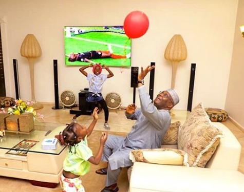 Grandpa Duties: Atiku Abubakar shares adorable photos with his grand-kids