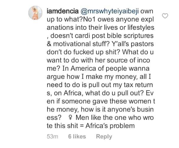 You think American female celebrities make money just by music or being OAPs? -Dencia tackles people questioning Toke Makinwa