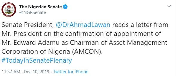 President  Buhari names Adamu as new AMCON chairman