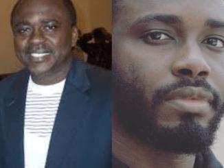 Veteran Nigerian actor Sola Fosudo and his adult son bear a striking resemblance