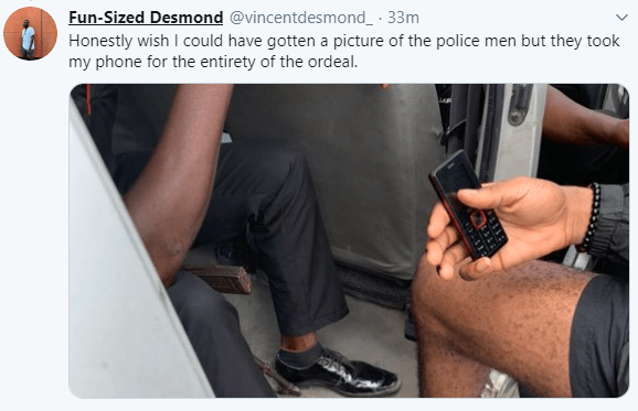 Two men arrested by police while in a cab, take to Twitter to raise alarm