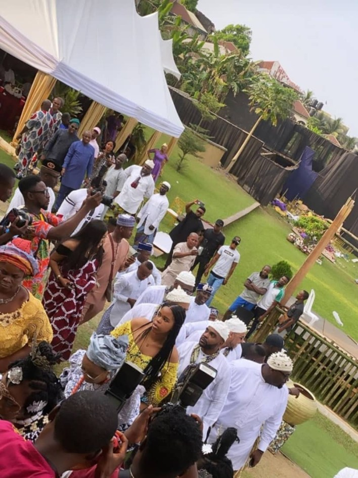 Photos from the traditional wedding of Davido