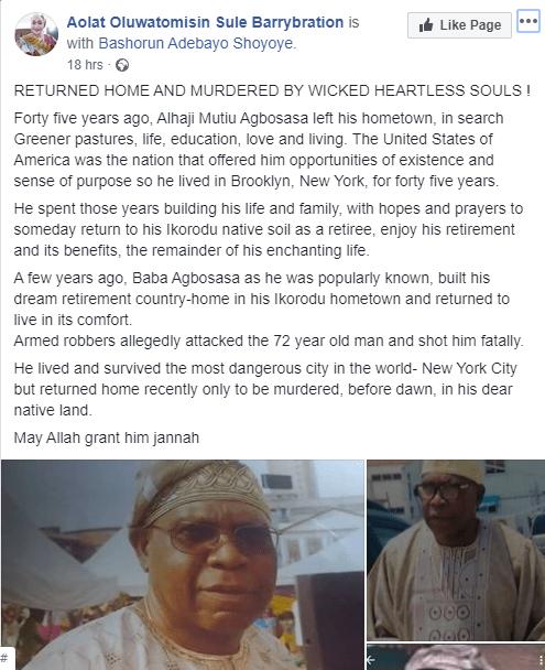 US-Returnee Murdered